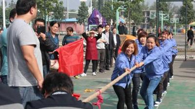 我公司女子拔河项目勇夺镇平县全民运动会亚军